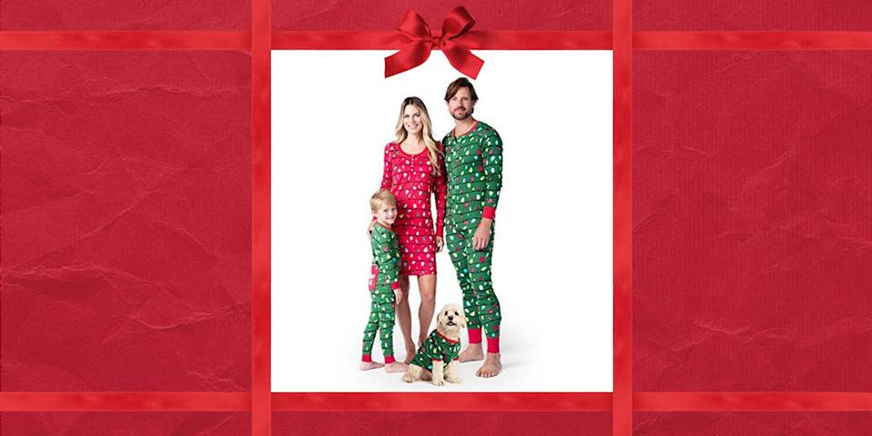 """<p>There are <em>so</em> many reasons why you should consider grabbing these best matching family Christmas pajamas for your kids and spouse. For starters, you'll be starting a fabulous Christmas tradition that you can return to year after year. What's more, your entire family can open presents beneath the Christmas tree in style—and you can all match too, should you opt for one of the adorable matching Christmas pajama sets we've included here. (Yes, these sets include <a href=""""https://www.countryliving.com/life/kids-pets/g5033/kids-christmas-pajamas/"""" rel=""""nofollow noopener"""" target=""""_blank"""" data-ylk=""""slk:kids' Christmas pajamas"""" class=""""link rapid-noclick-resp"""">kids' Christmas pajamas</a>, couples attire, and even smaller variations of the same pattern for dogs and cats.) And let's be honest, matching pajamas make for better pictures, so don't forget to pair your photo with the <a href=""""https://www.countryliving.com/life/entertainment/a24788448/christmas-instagram-captions/"""" rel=""""nofollow noopener"""" target=""""_blank"""" data-ylk=""""slk:best Instagram captions"""" class=""""link rapid-noclick-resp"""">best Instagram captions</a>. But forget wearing them to open gifts—these pajamas <em>are</em> <a href=""""https://www.countryliving.com/shopping/gifts/g2077/christmas-presents/"""" rel=""""nofollow noopener"""" target=""""_blank"""" data-ylk=""""slk:Christmas presents"""" class=""""link rapid-noclick-resp"""">Christmas presents</a> in and of themselves. Matching pajamas are also make especially good <a href=""""https://www.countryliving.com/shopping/gifts/g2828/gifts-for-people-who-are-always-cold/"""" rel=""""nofollow noopener"""" target=""""_blank"""" data-ylk=""""slk:gifts for people who are always cold"""" class=""""link rapid-noclick-resp"""">gifts for people who are always cold</a>. Although most of our picks are super festive, there are some more subdued patterns that are acceptable to wear all winter long. Whether you're looking for <a href=""""https://www.countryliving.com/shopping/gifts/g33600197/christmas-gifts-for-her/"""" rel=""""nofollow n"""