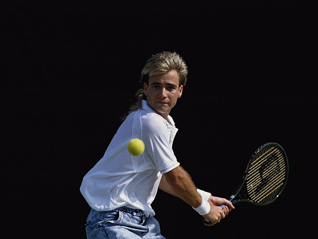 c7bd3b9510 Why tennis legend Andre Agassi thinks all balding men should embrace ...