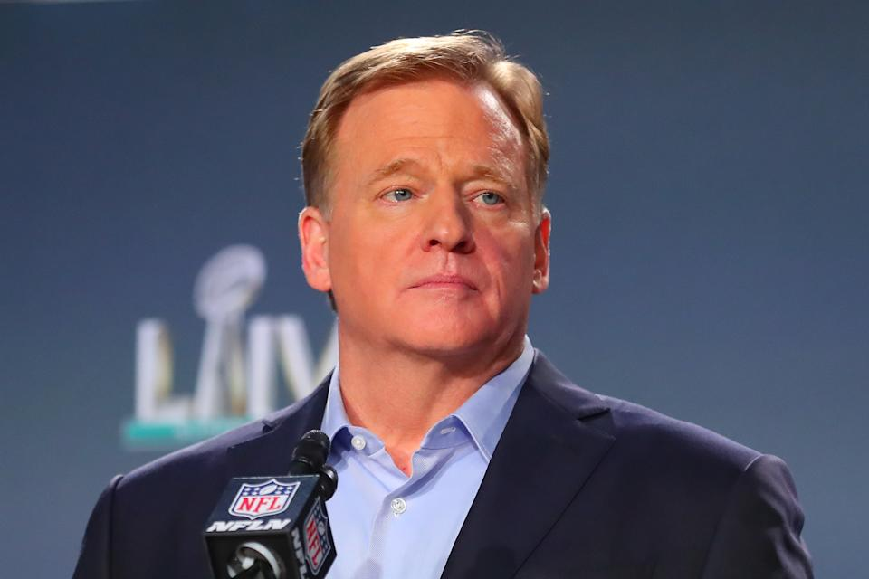 Roger Goodell announced a reversal of the NFL's stance on player protests on Friday. (Photo by Rich Graessle/PPI/Icon Sportswire via Getty Images)
