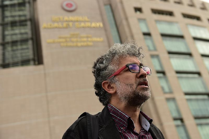 "Erol Onderoglu, the Turkey representative for Reporters Without Borders, has been charged with making ""terror propaganda"" on behalf of the outlawed Kurdistan Workers Party (AFP Photo/Yasin Akgul)"