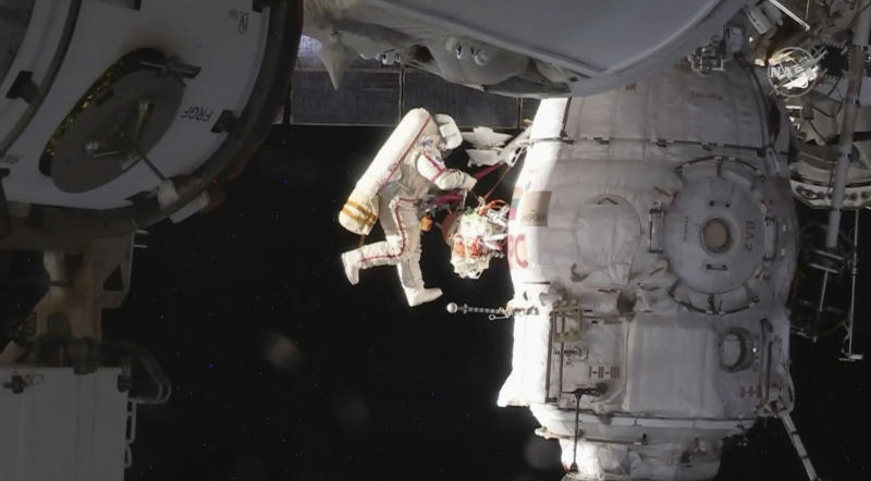 Russian Cosmonauts Will Spacewalk to Inspect ISS Hole