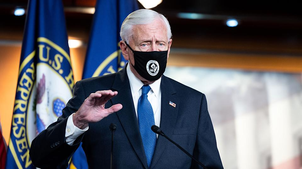U.S. Representative Steny Hoyer (D-MD) speaking at a press conference on Capitol Hill in Washington, DC on April 21, 2021. (Michael Brochstein/SOPA Images/Shutterstock)