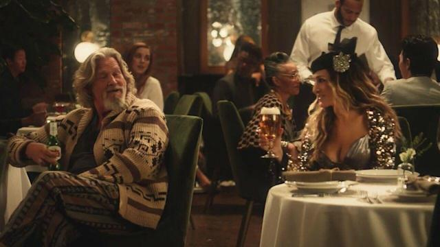 2019 Stella Artois ad with Jeff Bridges (L) and Sarah Jessica Parker