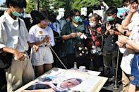 The protesters have held mock funerals for Thai Education Minister Nataphol Teepsuwan and demanded his resignation