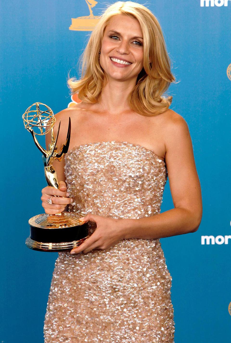 <p>Claire Danes was practically glowing after winning the award for outstanding lead actress in a limited series or movie for playing the titular character in <em>Temple Grandin. </em></p>