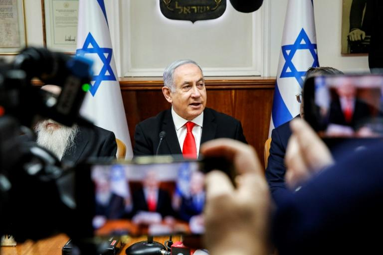 Israeli Prime Minister Benjamin Netanyahu is to lobby key leaders at this week's 75th anniversary of the liberation of Auschwitz on the threat posed by the Jewish state's arch-foe Iran (AFP Photo/جيل كوهين-ماجين)
