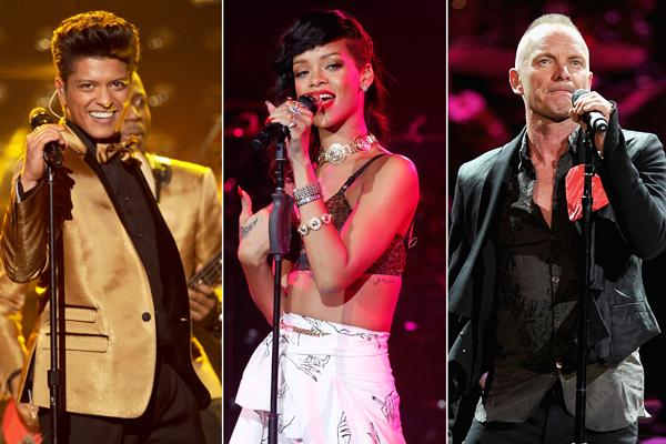 Sting Will Team With Bruno Mars, Rihanna for Grammys Performance