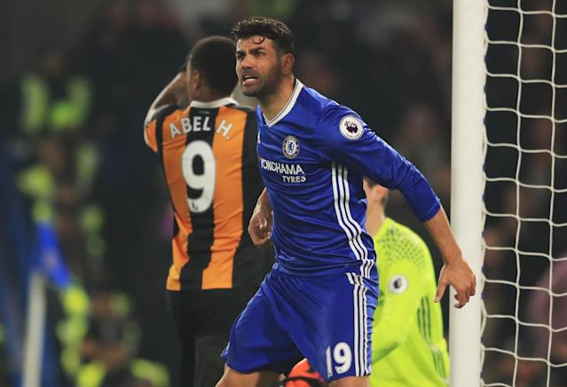 <p>Diego Costa is fired up </p>