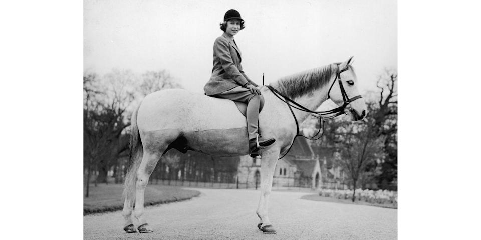 <p>Princess Elizabeth has been a rider since her youth, so it's no wonder Princes Charles, William, and Harry are all polo players. </p>