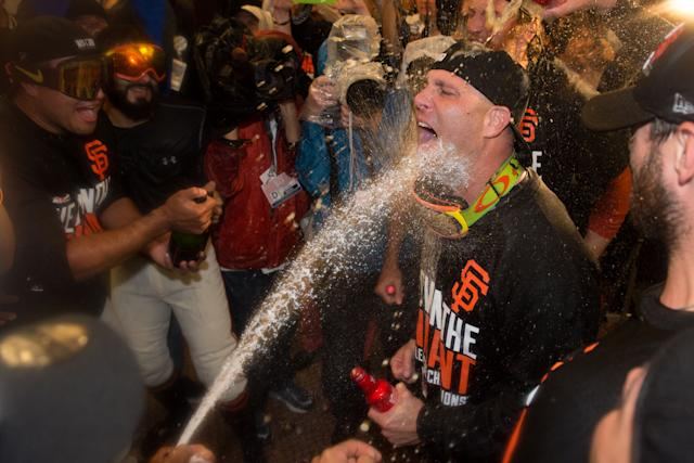 Think Tim Hudson's happy to be here? (USA TODAY Sports)