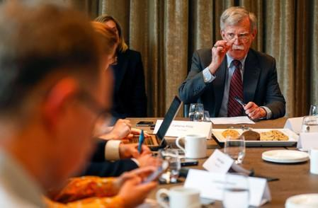 U.S. National Security Advisor John Bolton visits London