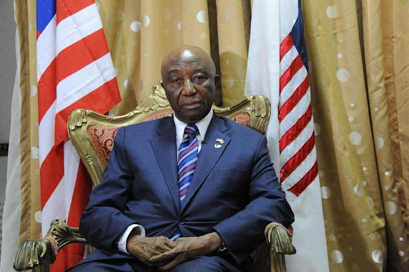 Liberia Vice President Joseph Nyumah Boakai is running for president and believes voters will make allowances for Liberia's ongoing problems given the state of the nation the government inherited from the ashes of the civil war (AFP Photo/Zoom DOSSO)