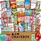 """<p><strong>CRAVEBOX</strong></p><p>amazon.com</p><p><strong>$25.45</strong></p><p><a href=""""http://www.amazon.com/dp/B01N22CM3F/?tag=syn-yahoo-20&ascsubtag=%5Bartid%7C10055.g.29263705%5Bsrc%7Cyahoo-us"""" rel=""""nofollow noopener"""" target=""""_blank"""" data-ylk=""""slk:Shop Now"""" class=""""link rapid-noclick-resp"""">Shop Now</a></p><p>Young kids and stressed out college students will especially appreciate this one. You get 45 snacks for <a href=""""https://www.goodhousekeeping.com/holidays/gift-ideas/g436/gifts-under-thirty-dollars/"""" rel=""""nofollow noopener"""" target=""""_blank"""" data-ylk=""""slk:under $30"""" class=""""link rapid-noclick-resp"""">under $30</a>.</p>"""