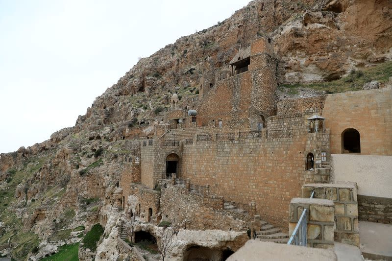 A view of the Rabban Hormizd Monastery is seen in Alqosh