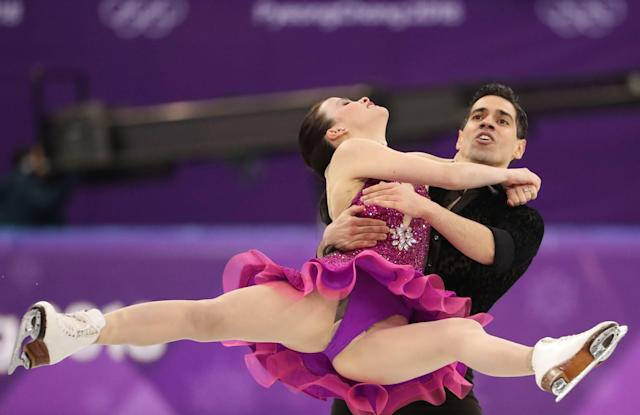 Figure Skating - Pyeongchang 2018 Winter Olympics - Ice Dance short dance competition - Gangneung Ice Arena - Gangneung, South Korea - February 19, 2018 - Anna Cappellini and Luca Lanotte of Italy perform. REUTERS/Lucy Nicholson
