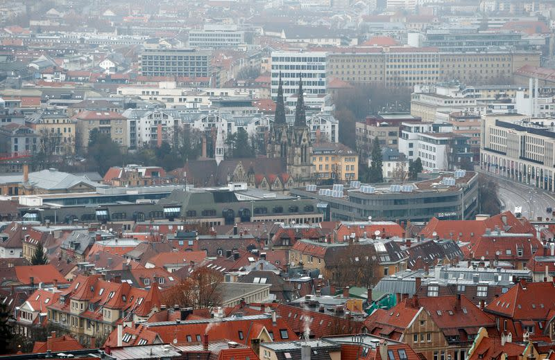 FILE PHOTO: General view at downtown Stuttgart
