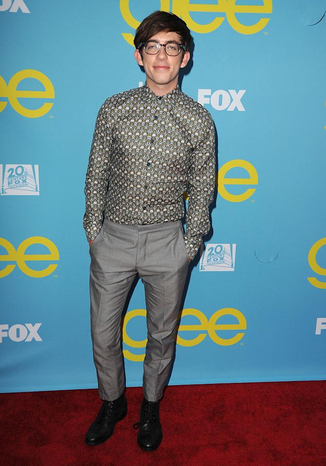"Kevin McHale attends a special screening of ""<a target=""_blank"" href=""http://tv.yahoo.com/glee/show/44113"">Glee</a>""  hosted by The Academy of Television Arts & Sciences at Leonard H.  Goldenson Theatre on May 1, 2012 in North Hollywood, California."