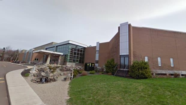 Nearly 500 people who attended the 11 a.m. Easter Sunday service at Moncton Wesleyan Church have been asked to self-monitor for COVID-19 symptoms. (Google Street View - image credit)