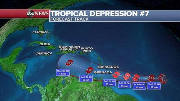 Tropical Storm Gonzalo expected to approach southern Windward Islands Friday, NHC says