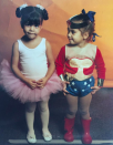 <p>In 2016, Kourtney got into the Halloween spirit and shared an adorable throwback of her and sister Kim as children. Who knew Kim would seek inspo from her younger self's costume in years to come? <em>[Photo: Instagram]</em> </p>
