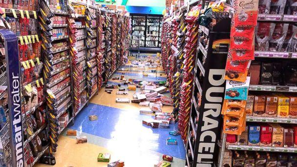 PHOTO: Merchandise that fell off the shelves during an earthquake is pictured at a store in Anchorage, Ala., Nov. 30, 2018. (David Harper via AP)