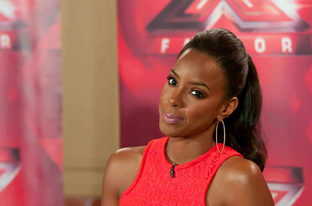 "UNIONDALE, NY - JUNE 20:  Kelly Rowland attends the ""The X Factor"" Judges press conference at Nassau Veterans Memorial Coliseum on June 20, 2013 in Uniondale, New York.  (Photo by Steven A Henry/WireImage)"