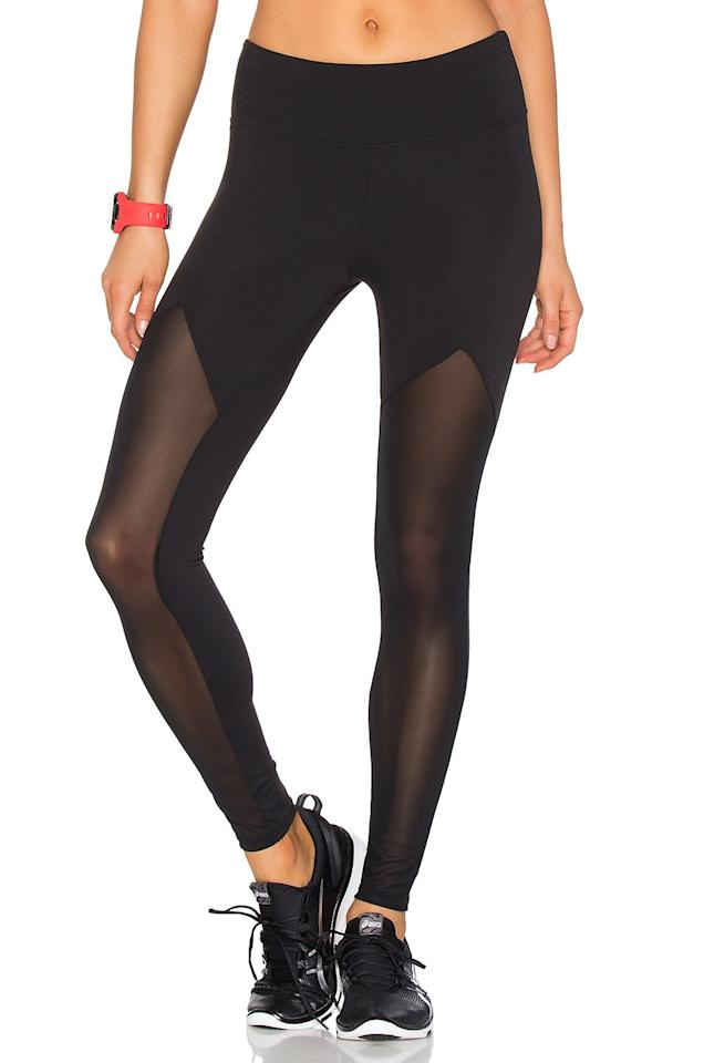 """<p>The cool, mesh detailing on these leggings will probably make you want to wear them to every yoga class.</p> <p>Get them: $59 (originally $106), <a rel=""""nofollow"""" href=""""http://www.revolve.com/lovers-friends-work-by-lovers-friends-sprinter-mesh-legging/dp/LOVF-WM2/?d=Womens&page=1&lc=1&itrownum=1&itcurrpage=1&itview=01&plpSrc=/r/Brands.jsp?aliasURL=sale/activewear/br/6b9fcc&&n=s&s=c&c=Activewear&sortBy=popularity&fbreq=el"""" rel=""""nofollow"""">revolve.com</a></p>"""
