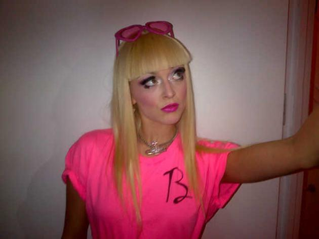Fearne Cotton headed off to a fancy dress party this week and dressed up as Barbie. She tweeted this picture saying that the false eyelashes were 'weighing her down.' But we have to say, even as Barbie Fearne still looks fab. No fair.