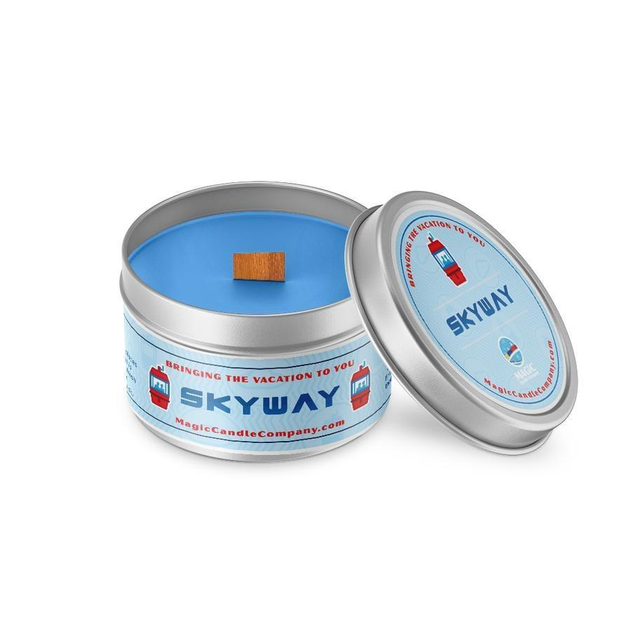 "<p>Take in the scents of mandarin, cotton, flowers, and driftwood as your glide over Disney's magical Fantasyland and Tomorrowland with this <a href=""https://www.popsugar.com/buy/Skyway-Candle-571731?p_name=Skyway%20Candle&retailer=magiccandlecompany.com&pid=571731&price=17&evar1=casa%3Aus&evar9=46559536&evar98=https%3A%2F%2Fwww.popsugar.com%2Fhome%2Fphoto-gallery%2F46559536%2Fimage%2F47451853%2FSkyway-Inspired-Candle&list1=candles%2Cdisney&prop13=mobile&pdata=1"" class=""link rapid-noclick-resp"" rel=""nofollow noopener"" target=""_blank"" data-ylk=""slk:Skyway Candle"">Skyway Candle</a> ($17).</p>"