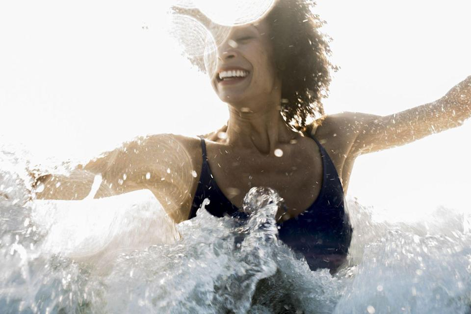 <p>One of the major benefits of swimming is that water works to create whole-body resistance. Pushing in any of the major strokes will work out your whole body, but some will work certain areas a little more than others. </p><p><strong>1. Breaststroke</strong></p><p>It may be slower, but it is the best stroke for an all-over body workout. Helping to strengthen the upper body, back and chest, it also involves breathing out into the water which increases the resistance on your chest, which can improve your lung functions. </p><p>It also helps to tone the thighs and lower legs more than other strokes, due to its more complex leg movement. </p><p><strong>2. Front crawl</strong></p><p>The speedy stroke, it is also the easiest one for most to master. Lucky then that, like all strokes, it shapes your whole body and specifically your upper body. </p><p>Front crawl uses the deltoids (which are the muscles in our shoulders), the side of the back, the triceps and bicep muscles of our arms.</p><p><strong>3. Backstroke</strong></p><p>The elegant stroke. Nail a good technique with this one and it can help improve your overall posture. It is also excellent for core strengthening and opening up the chest muscles. Backstroke is the one to help shape your upper back, lower back and thighs.<br></p><p><strong>4. Butterfly</strong></p><p>The calorie burner. If you can keep it up, it is undoubtedly the stroke that burns the most calories. You need a lot of power for butterfly, as it needs strong triceps and bicep muscles. </p><p>It can help strengthen the shoulder muscles as you rotate the shoulders, and this develops the deltoid muscles. </p><p>As well as the back and chest, it takes a lot out of your legs and is one of the key strokes that focuses on building a strong core.</p>