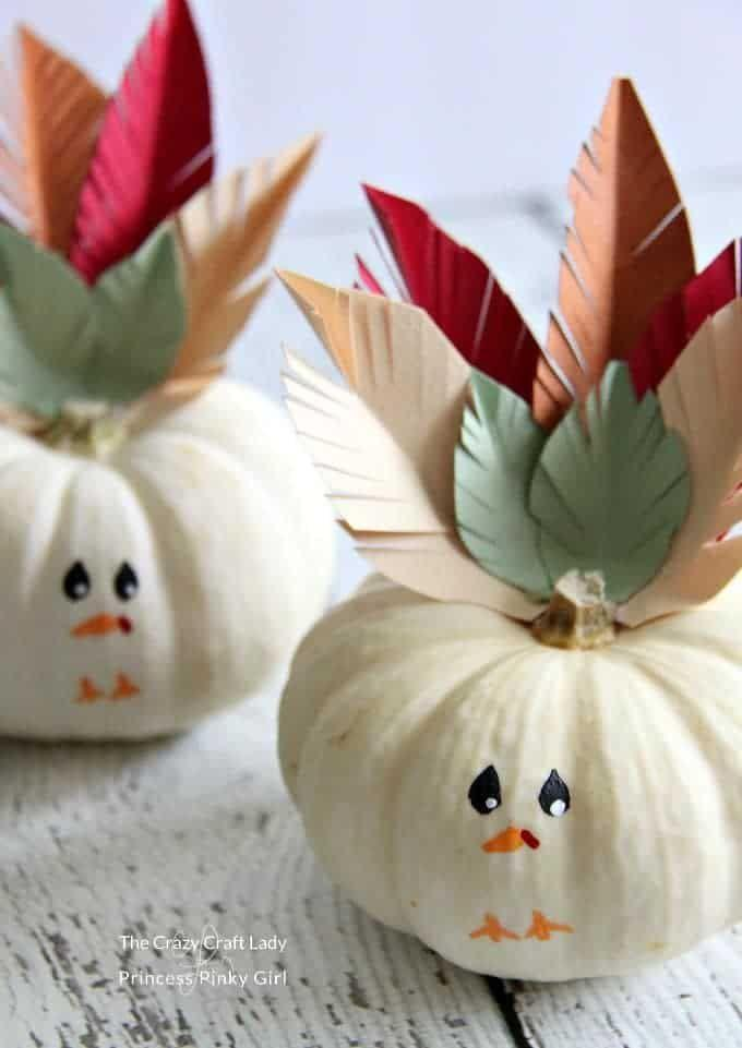 """<p>The <a href=""""https://www.countryliving.com/diy-crafts/g1350/pumpkin-decorating-1009/"""" rel=""""nofollow noopener"""" target=""""_blank"""" data-ylk=""""slk:pumpkin decorating ideas"""" class=""""link rapid-noclick-resp"""">pumpkin decorating ideas</a> don't have to stop after Halloween. You can create the perfect Thanksgiving décor by turning them into turkeys.</p><p><strong>Get the tutorial at <a href=""""https://princesspinkygirl.com/turkey-mini-pumpkins-craft/"""" rel=""""nofollow noopener"""" target=""""_blank"""" data-ylk=""""slk:Princess Pinky Girl"""" class=""""link rapid-noclick-resp"""">Princess Pinky Girl</a>.</strong></p><p><strong><a class=""""link rapid-noclick-resp"""" href=""""https://www.amazon.com/Double-Sided-Decorative-Collection-Cardstock-Background/dp/B095NTPQD7/ref=sr_1_28?tag=syn-yahoo-20&ascsubtag=%5Bartid%7C10050.g.2063%5Bsrc%7Cyahoo-us"""" rel=""""nofollow noopener"""" target=""""_blank"""" data-ylk=""""slk:SHOP PAPER"""">SHOP PAPER</a><br></strong></p>"""