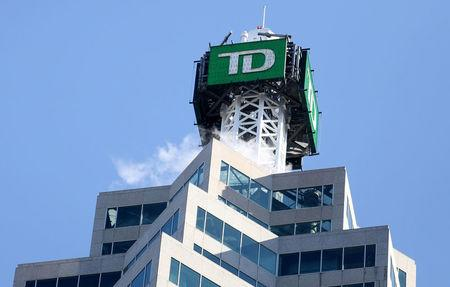 FILE PHOTO --  The TD bank logo is seen on top of the Toronto Dominion Canada Trust Tower in Toronto