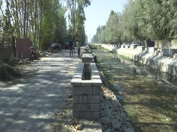 The Shalimar Channel is one of the oldest water channels which connects the Shalimar garden to the Dal Lake in Srinagar. (Photo/ANI)