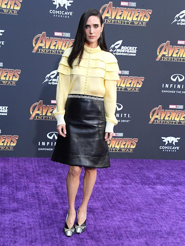 <p>Wearing Louis Vuitton. (Photo: Getty Images) </p>