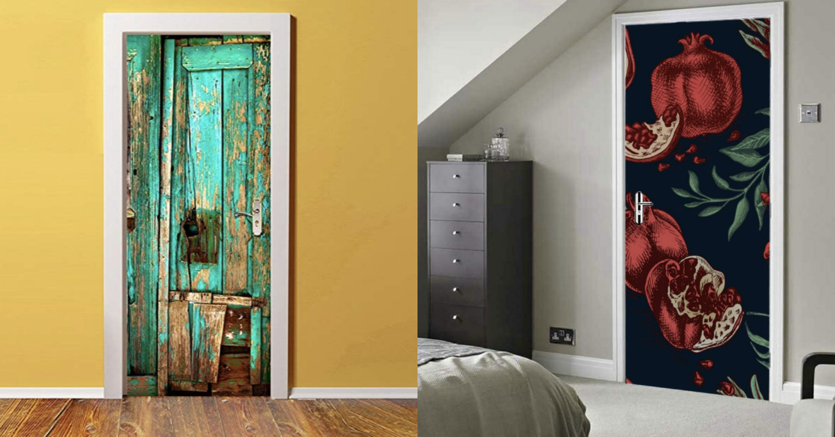 "<p><a href=""https://www.housebeautiful.com/room-decorating/colors/a2331/interior-door-paint-colors/"">Painting a door a bold color</a> isn't the only way to make it pop. Just like your walls, most interior doors can be wallpapered. Not only is it a quick-and-easy way to dress up a bland door, but it's also a thrifty way to create a stunning visual, and in some cases, the illusion of anything from patina to an expansive view.  Amazon offers a huge selection of what is being coined as a ""<a href=""https://www.amazon.com/s?k=door+mural+wrap&ref=nb_sb_noss"">door mural wrap</a>"" or ""<a href=""https://www.amazon.com/s?k=door+wallpaper+sticker&ref=nb_sb_noss_2"">door wallpaper sticker</a>.""  Essentially, these are wallpaper adhesives designed for a door, with most falling within the $25 to $35 price range. To complete this project (which should take less than hour), you'll have to unscrew your door handle, give your door a thorough cleaning, and be prepared to cut off any excess wallpaper off with a knife. Other than that, the adhesive should just peel right on. Air bubbles? A plastic squeegee should do the trick. We've picked out some of our favorites below. Aren't they just... a-DOOR-able?</p>"