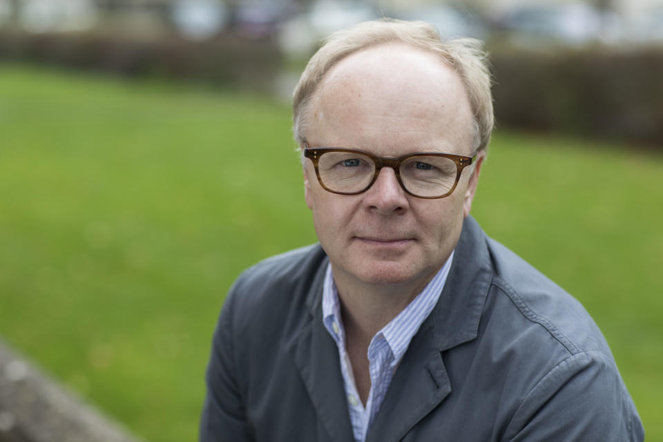 Jason Watkins, actor in W1A, during the Cheltenham Literature Festival on October 15, 2017 in Cheltenham, England.  (Photo by David Levenson/Getty Images)