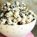 """<div class=""""caption-credit""""> Photo by: Heather Christo Cooks</div><div class=""""caption-title"""">Cookies and Cream Popcorn</div>Bring your favorite ice cream flavor to your popcorn bowl! <br> <a href=""""http://www.heatherchristo.com/cooks/2012/09/23/cookies-and-cream-popcorn/"""" rel=""""nofollow noopener"""" target=""""_blank"""" data-ylk=""""slk:Get the recipe"""" class=""""link rapid-noclick-resp""""><i>Get the recipe</i></a> <br> <b>More on Spoonful</b> <br> <a href=""""http://spoonful.com/recipes/fun-party-foods?cmp=ELP