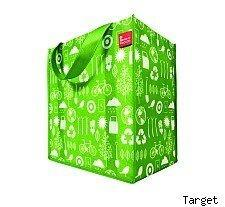 Free green tote at Target for Earth Week