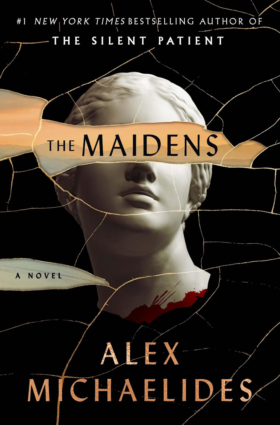 """For lovers of Greek mythology, <em>The Maidens </em>stands as a tale of modern murders with an ancient classic twist. Following ex-Cambridge University student Mariana on her quest to find a killer, she soon becomes suspicious of a charming Greek tragedy professor named Edward Fosca. Adored by a secret society of female students (aka 'The Maidens'), Mariana is convinced that the professor must be responsible for the death of a young member. Though he has a reliable alibi, his strange interest in the tale of Persephone and her journey to the underworld makes him seem the most obvious suspect. With Mariana's career as a therapist hanging in the balance, pursuing the case could ruin the life she worked so hard to build.<br><br><strong>Alex Michaelides</strong> The Maidens, $, available at <a href=""""https://uk.bookshop.org/books/the-maidens-the-new-thriller-from-the-author-of-the-global-bestselling-debut-the-silent-patient/9781409181668"""" rel=""""nofollow noopener"""" target=""""_blank"""" data-ylk=""""slk:bookshop.org"""" class=""""link rapid-noclick-resp"""">bookshop.org</a>"""