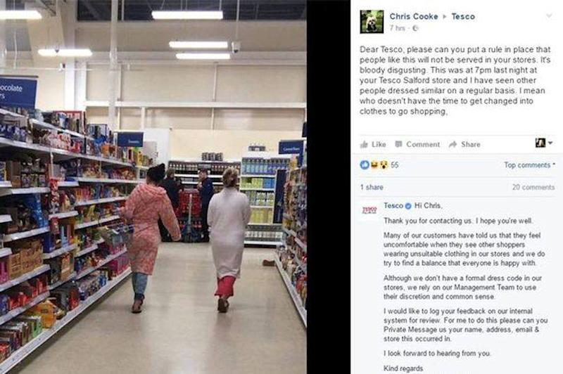 Chris Cooke's post on inappropriate dress in a grocery store has struck a chord and garnered divided opinions. (Photo: Joel Brackenbury/Facebook)