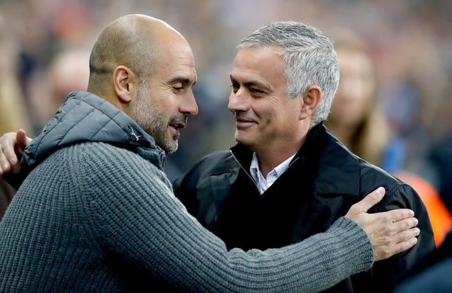 Pep Guardiola, left, and Jose Mourinho have had an enduring rivalry