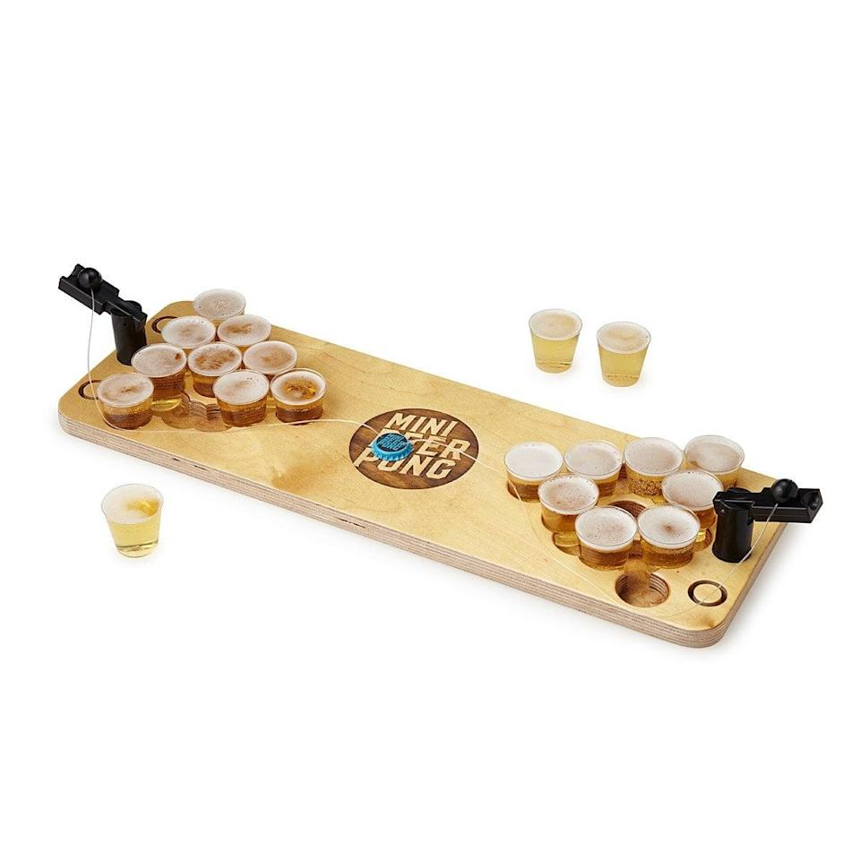 <p><span>Mini Beer Pong </span> ($60) is perfect for bringing the classic game to any size space.</p>
