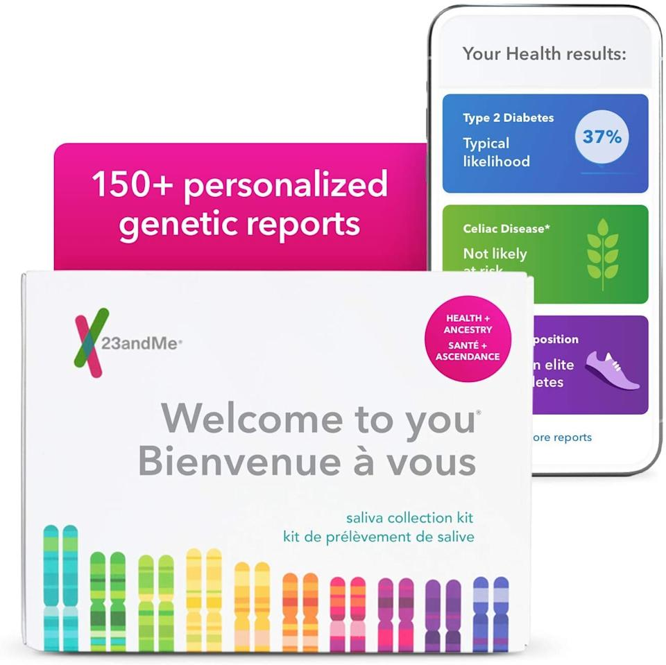 Save 33% on 23andMe Health + Ancestry Service: Personal Genetic DNA Test. Image via Amazon.