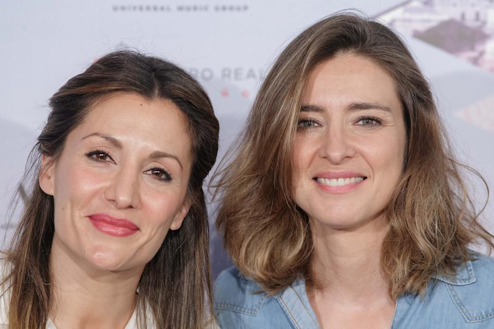 MADRID, SPAIN - JULY 03:  (L-R) Nagore Robles and wife Sandra Barneda attend the 'The World of Hans Zimmer' concert photocall at Royal Theatre on July 3, 2018 in Madrid, Spain.  (Photo by Eduardo Parra/Getty Images)
