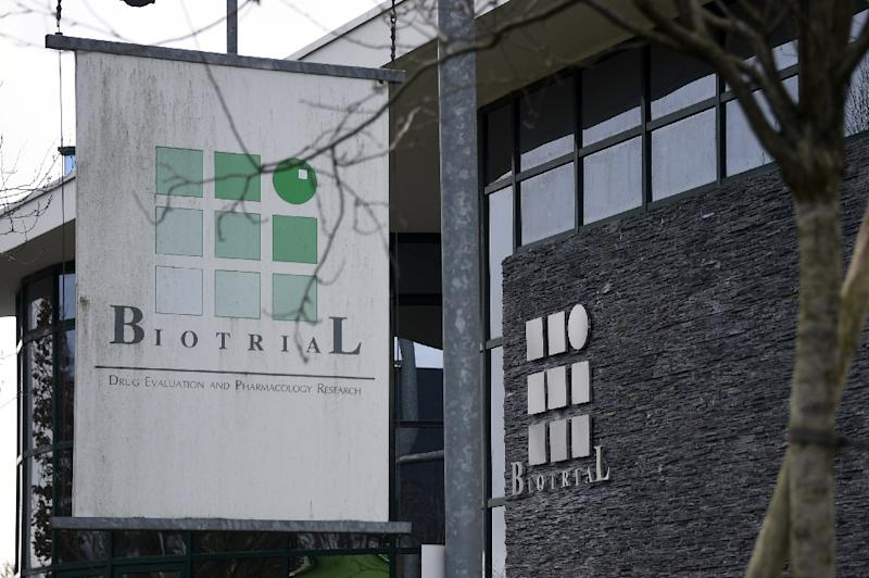 The Biotrial laboratory in Rennes where a clinical trial of an oral medication left one person brain-dead and five hospitalised, on Januray 15, 2016 (AFP Photo/Damien Meyer)