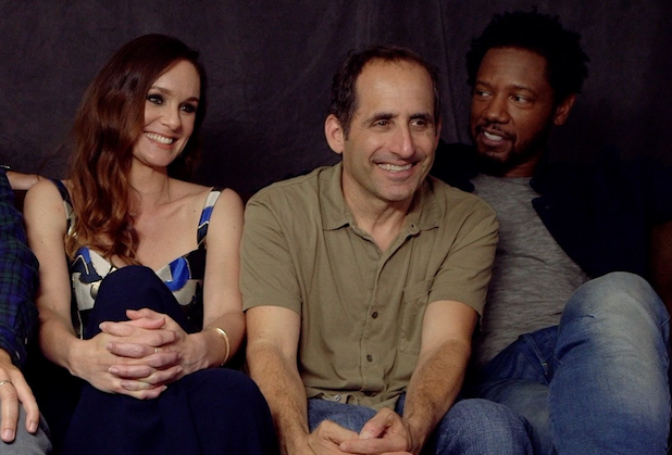 """Never mind what Season 3 of Colony is actually about — Sarah Wayne Callies merely hopes that Katie Bowman makes it out alive. After all, the Prison Break and Walking Dead alum reminded Michael Ausiello during the USA Network drama's visit to TVLine's Comic-Con interview suite, """"I've never survived the third season of a television […]"""