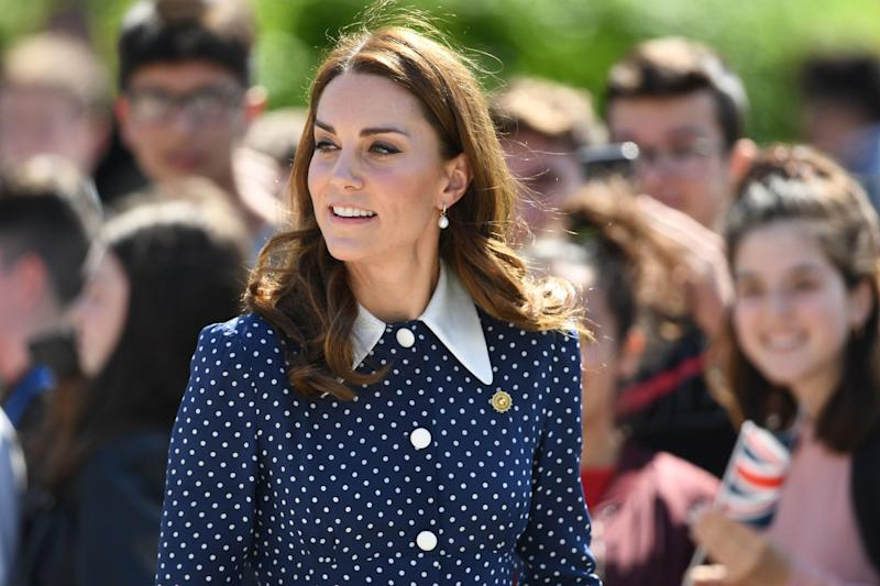 Kate Middleton recycles polka dot dress by Alessandra Rich for visit to Bletchley Park