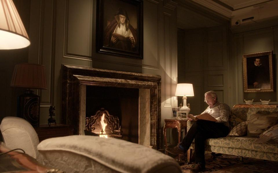Rembrandt's Old Woman Reading (1655) hangs above the Duke of Buccleuch's fireplace
