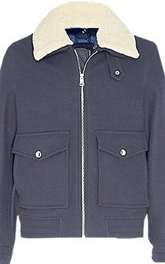 Virgin wool flight jacket with shearling collar, £290, Tommy Hilfiger