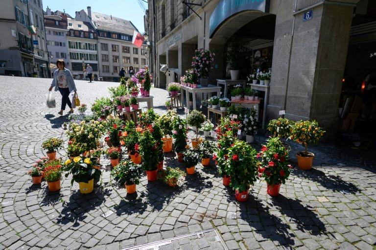 Florists and garden centres were also allowed to reopen in Switzerland